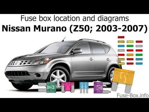2005 nissan murano fuse box fuse box location and diagrams nissan murano  z50  2003 2007  fuse box location and diagrams nissan
