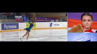 82 13 БАЛЛОВ Щербакова недовольна своим недокрутом в короткой программе на Кубке России