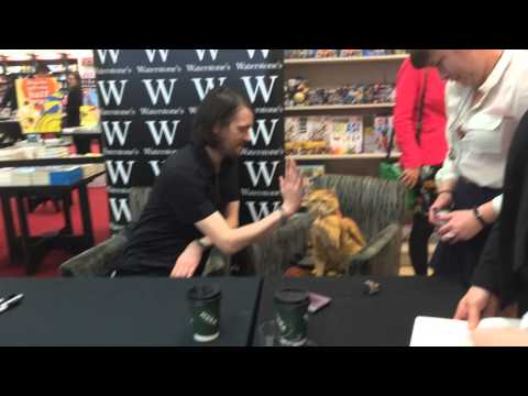 James Bowen & Street Cat Bob - Waterstone's London May 2014