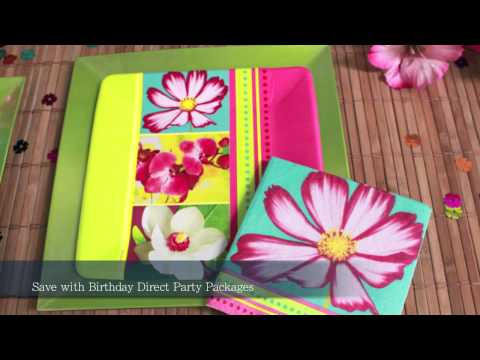 Island Flowers Party Supplies
