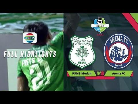 PSMS Medan (2) vs Arema FC (0) - Full Highlight   Go-Jek Liga 1 besama Bukalapak
