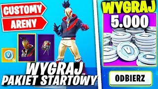 DODAJE ZA DARMO ! * CUSTOMY / ARENY *  W FORTNITE | hajTv #FORTNITE