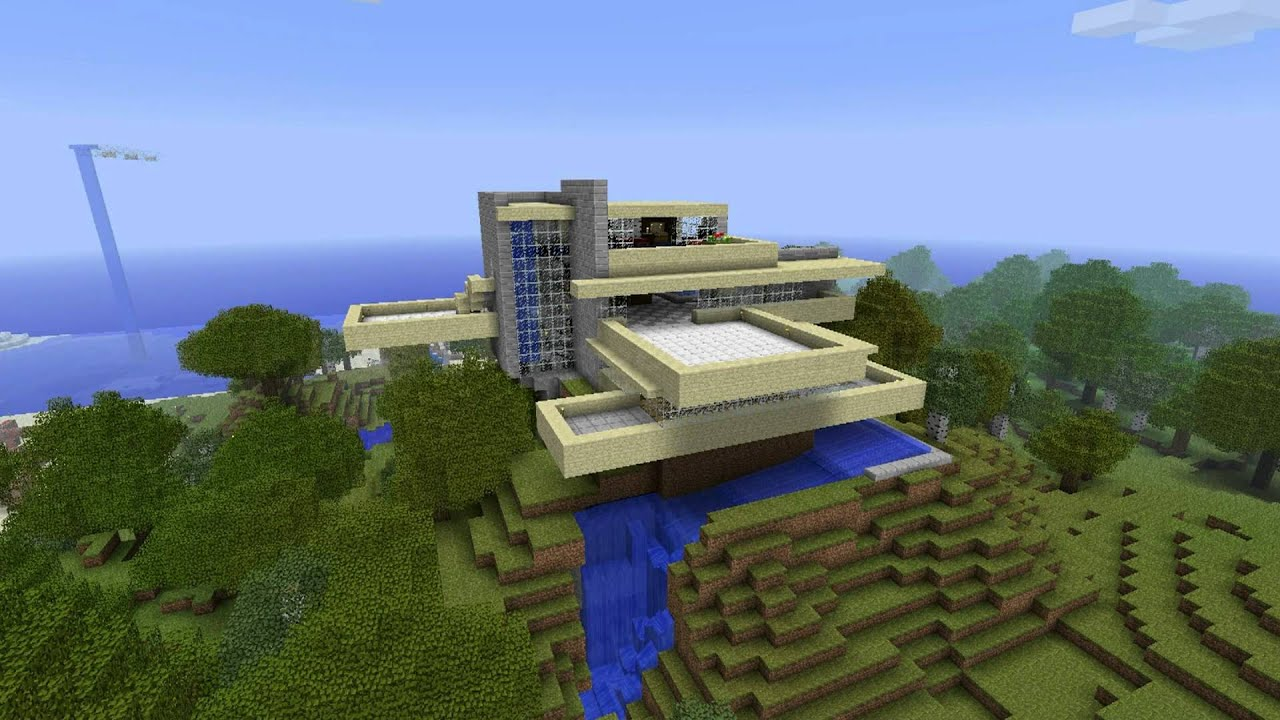 Falling Water Tv Show Wallpaper Minecraft Fallingwater Youtube