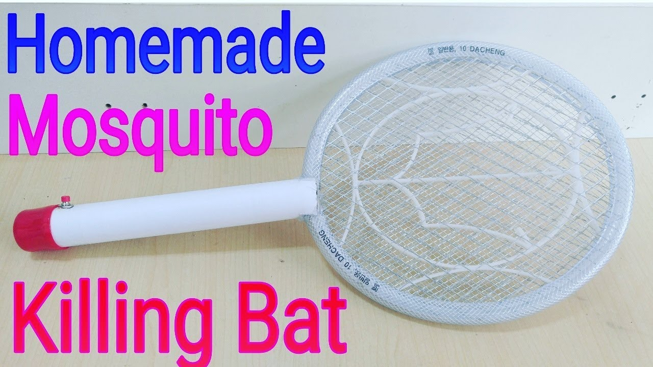 How To Make A Mosquito Killer Bat At Home Youtube