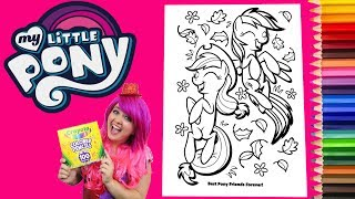 Coloring My Little Pony Rainbow Dash & Applejack Coloring Book Page Colored Pencil | KiMMi THE CLOWN