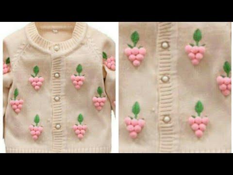 12f6af559 Cardigan Design for 10-15 years of Kids Pom Pom Sweater Design ...