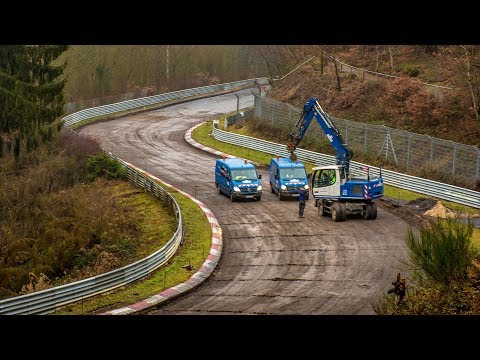 Nürburgring Winter Constructions UPDATE 2019 - Track Changes & Maintenance for 2019