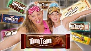 COOKIE CHALLENGE!! 8 Flavor Taste Test! Let's Crown the Tim Tam King!