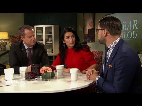 """Jimmie Åkesson till f.d peshmerga-soldaten: """"Kan jag vara kurd?"""" - Malou Efter tio (TV4)"""