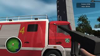 Firefighters - The Simulation_ response to traffic accident in gas station