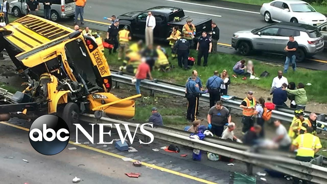 At least 2 dead in school bus crash