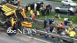 Video At least 2 dead in school bus crash download MP3, 3GP, MP4, WEBM, AVI, FLV Mei 2018