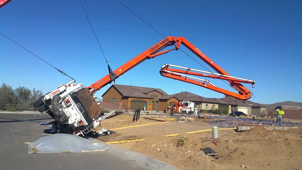 Concrete Pumper Rollover