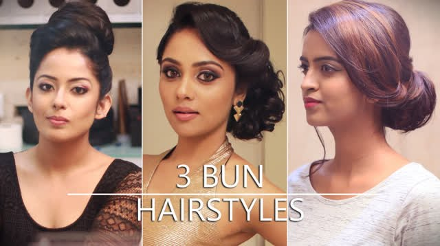 3 Easy Up Dos Elegant Bun Hairstyles For Special Occasions Youtube