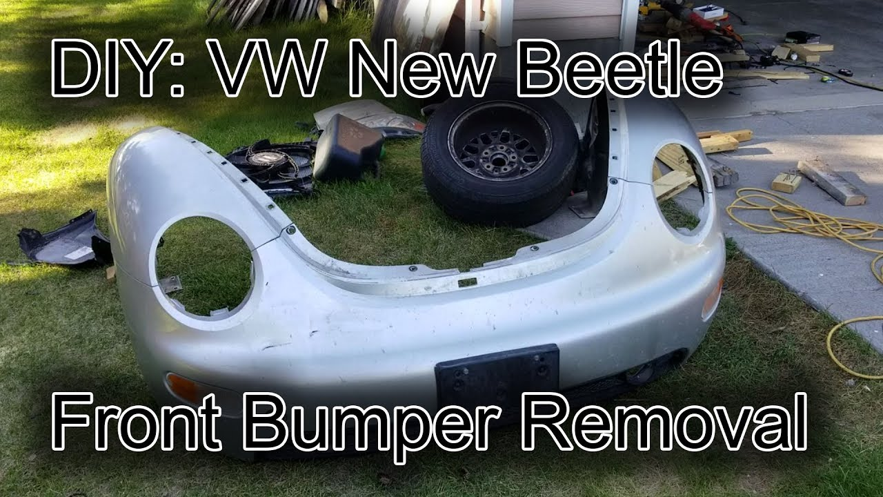 medium resolution of 1998 2011 vw new beetle front bumper removal updates