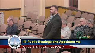 Selectmen Meeting 10/30/17
