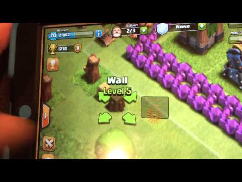 Clash of clans - wall GLITCH (part 1)
