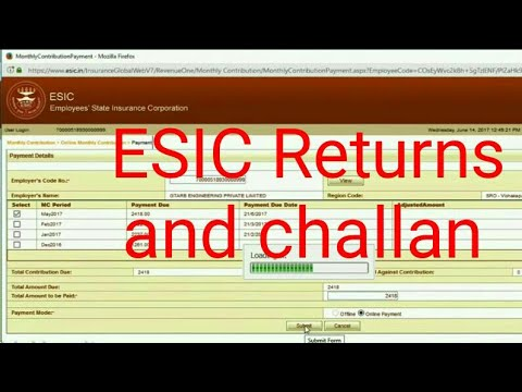 ESIC Return And Challan Generation PART 1