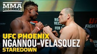 UFC Phoenix Weigh-Ins: Francis Ngannou vs. Cain Velasquez Staredown - MMA Fighting