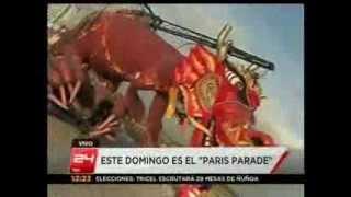 Paris Parade con Carros de Foc. CANAL 24 HORAS SEMANA 24. 2012 11 24
