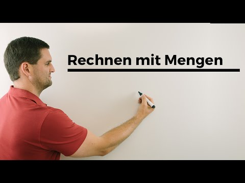 Rechnen mit Mengen, Schnitt, Vereinigung, Differenz, Komplement, Mathe by Daniel Jung