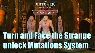 The Witcher 3 Blood And Wine Turn and Face the Strange Walkthrough l unlock Mutations System