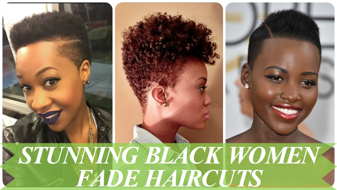 stunning black women fade haircuts