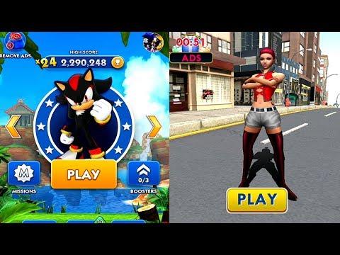 Sonic Dash VS City Racing Android iPad iOS Gameplay HD