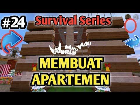 Membuat Apartement Modern Dan Mewah Di Mini World Block Art Survival Indonesia Episode 24 - 동영상