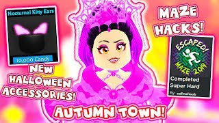 The BEST MAZE HACKS! TREASURE CHESTS And New HALLOWEEN ACCESSORIES in Roblox Royale High School!