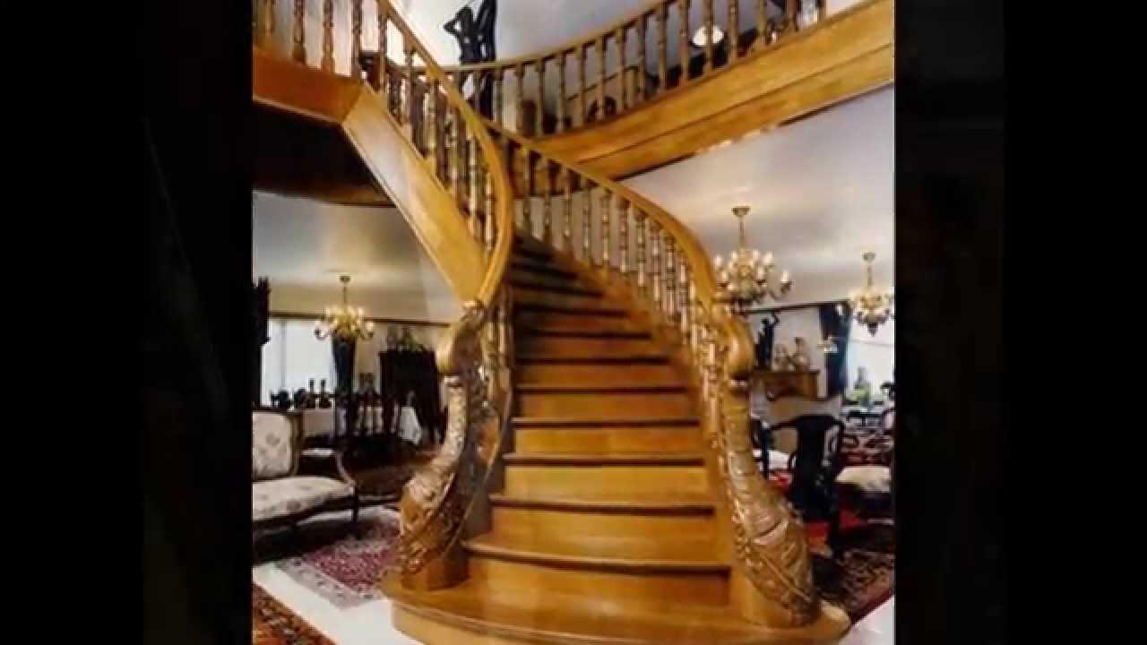 лестницы резные из дерева фото