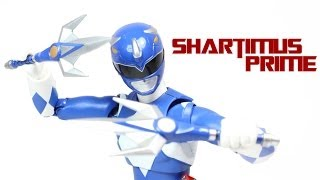 SH Figuarts Blue Ranger Mighty Morphin Power Rangers Bandai Tamashii Nations Action Figure Review