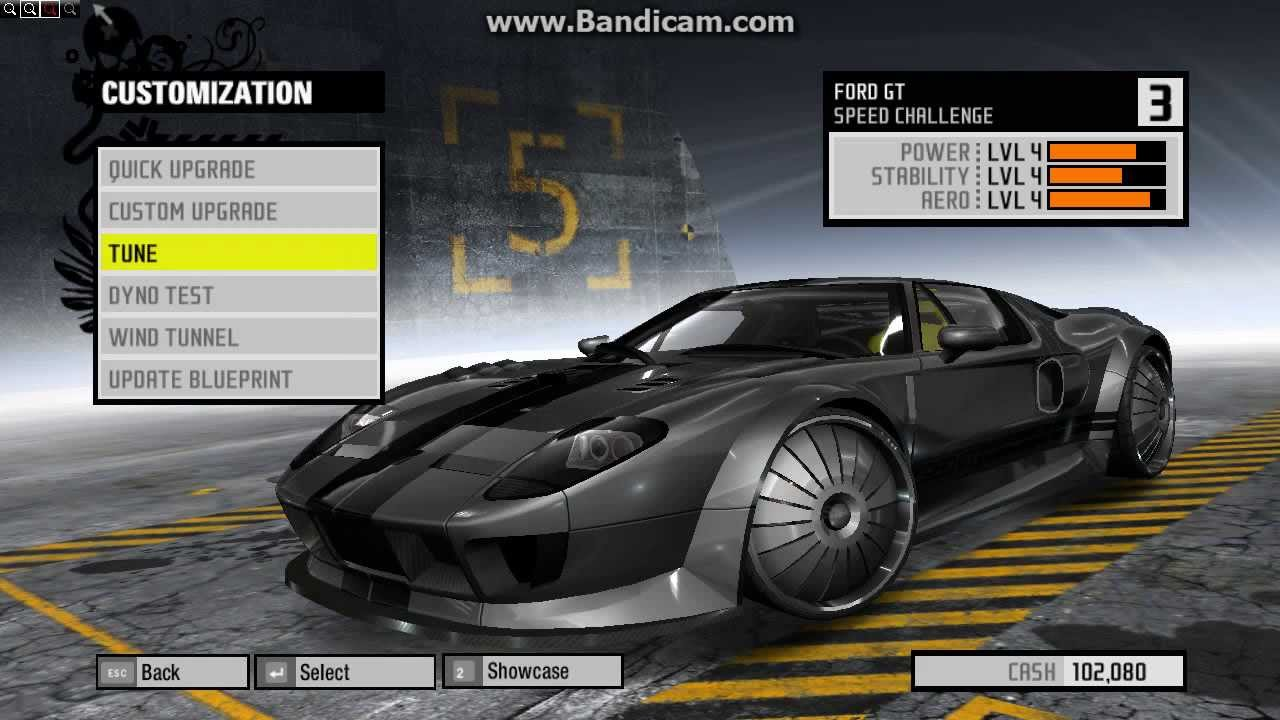 Need For Speed Prostreet Ford Gt Tuning