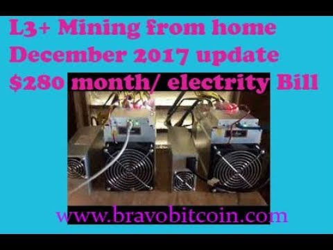 L3 Litecoin Mining From Home... December 2017 Electricity Cost