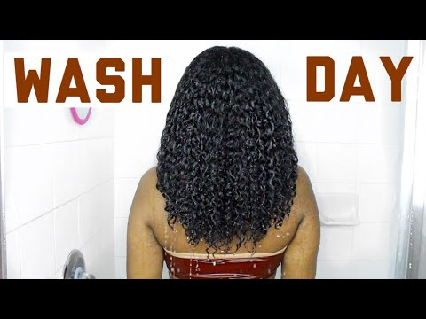 *Super Detailed* WASH DAY Routine For Curly, Low Porosity NATURAL HAIR
