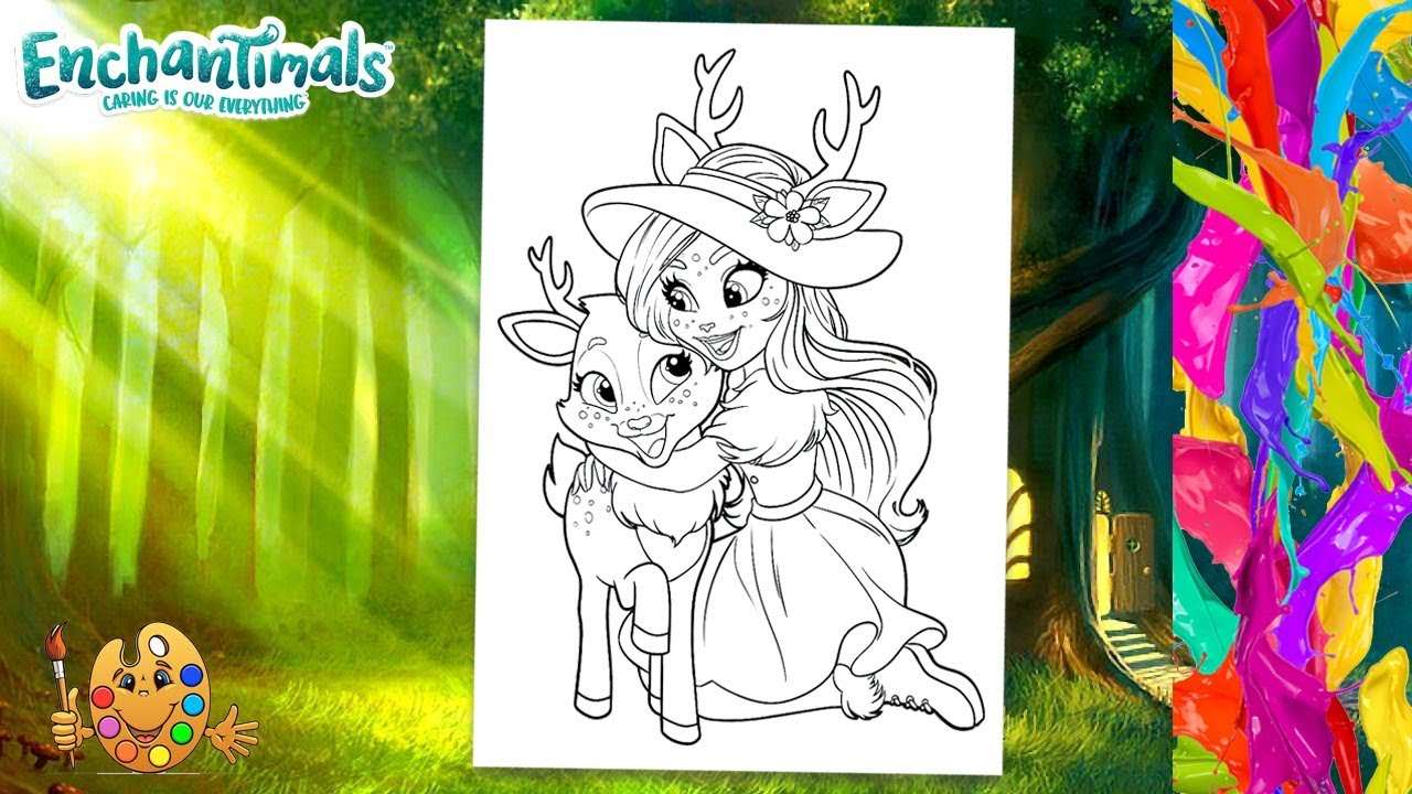 Enchantimals Danessa Deer and Sprint   Coloring pages for kids ...