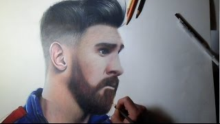 DIBUJO DE LIONEL MESSI (FC BARCELONA) — SPEED DRAWING