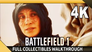 Battlefield 1 (PC) - 4K Gameplay - Nothing is Written - Collectibles Walkthroughs (SweetFX)