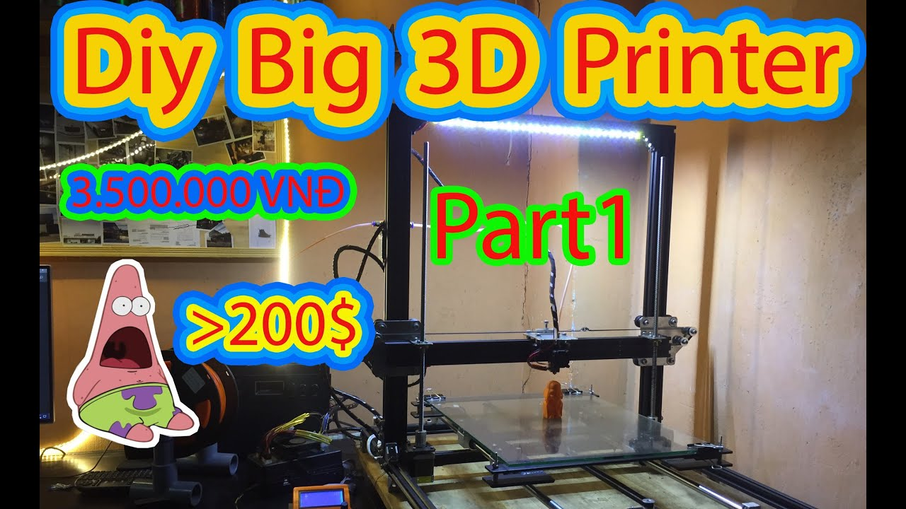 Diy 3D Printer| Tự làm máy in 3D 40x40x40 Part 1