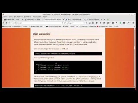 Handlebars.js template (tutorial) - YouTube