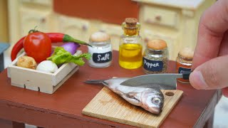 How To Make Thai Grilled Fish In Miniature Kitchen DIY Mini Food In Real Life