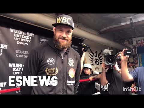 (RAW) What Tyson Fury Said When He Met Elie Seckbach - EsNews Boxing