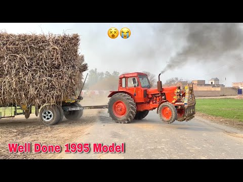 Well Done Belarus MTZ 1995 Model Tractor Power Show Pulled out Sugarcane Trailer