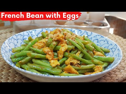 stir-fry-french-beans-with-eggs-|-french-beans-recipe