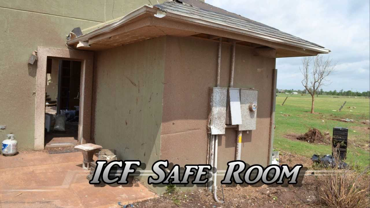 Moore oklahoma tornado icf construction youtube for What is an icf home
