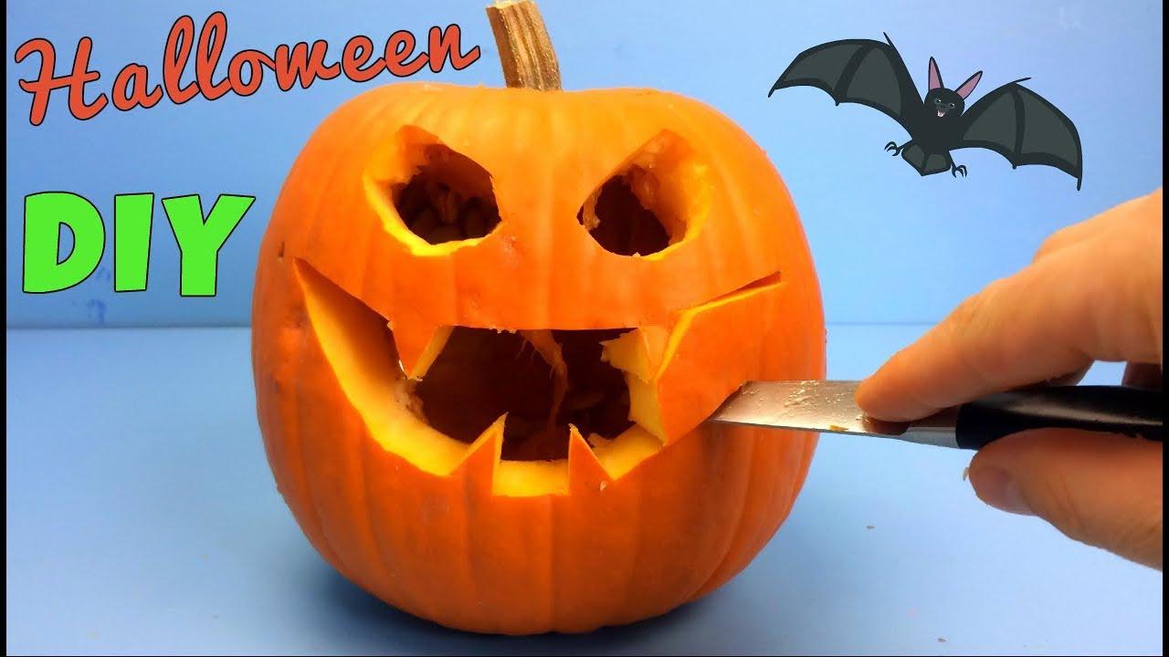 Halloween pumpkin carving diy pompoen snijden met