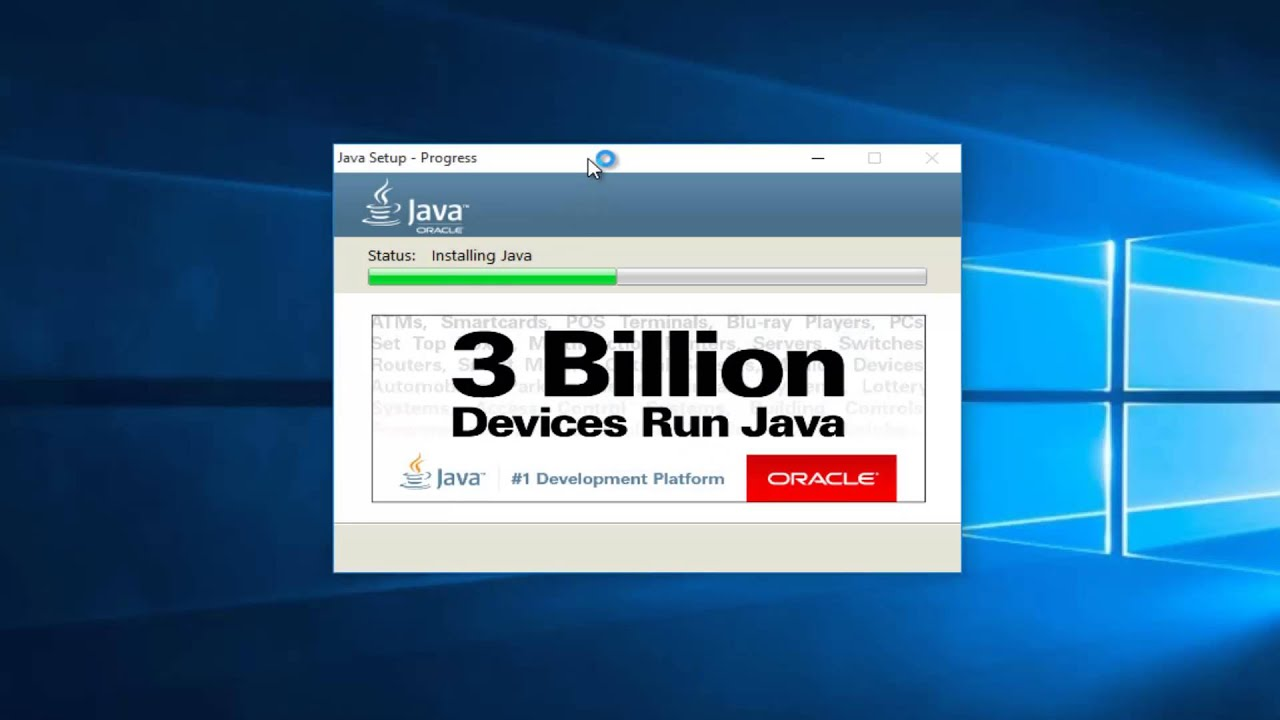How To Update Java In Windows 10