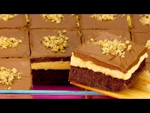 Fine e deliziosa! Torta al cioccolato con crema pasticcera! | Saporito.TV