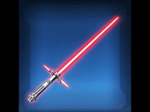 Swtor Defiant Vented Lightsaber With Lightning Weapon Tuning And