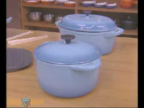Shoptime.com | Panelas de Ferro Fundido Turquesa La Cuisine